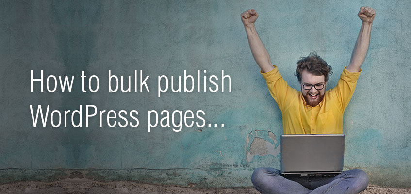 How to bulk publish WordPress pages display photo