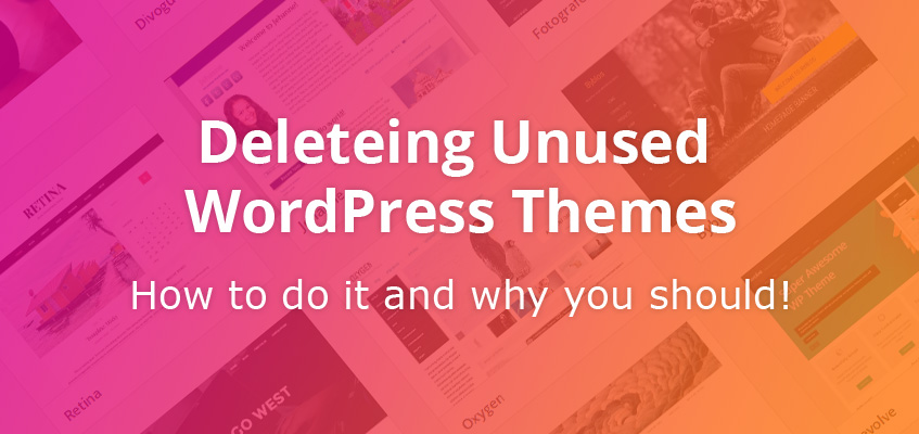 How to delete WordPress themes display photo