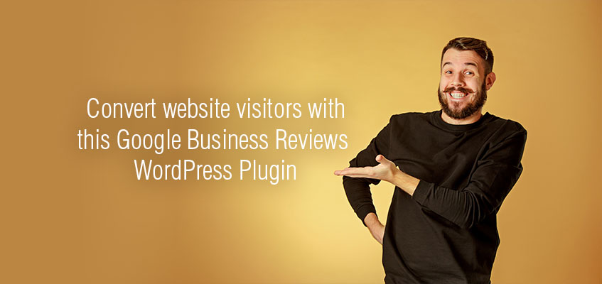 Converting visitors using Google Business Reviews plugin display photo