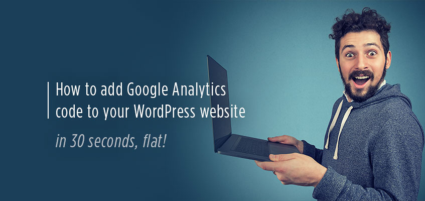 Adding Google Analytics to your WordPress website display photo