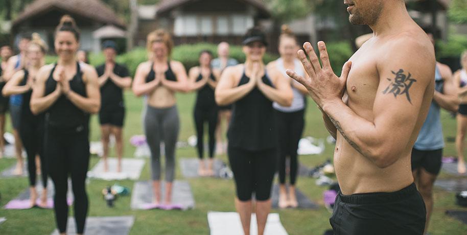 Portfolio hero image for the Warrior One Yoga website