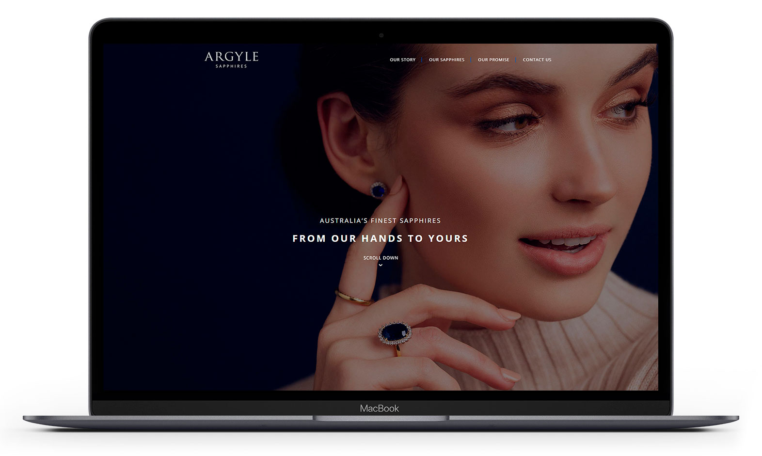 Argyle Sapphires' website design displayed responsive devices