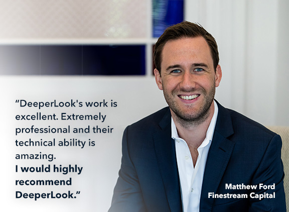 Matthew Ford of Finestream Capital's 5-star review of DeeperLook